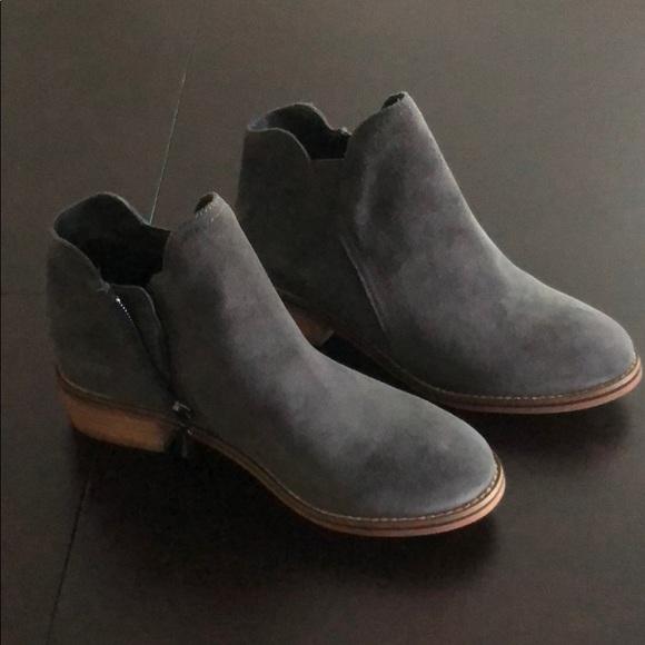 9906fef779e Blondo waterproof booties in Dark Grey Suede